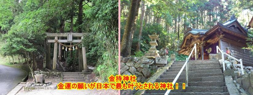金持神社・鳥居と本殿