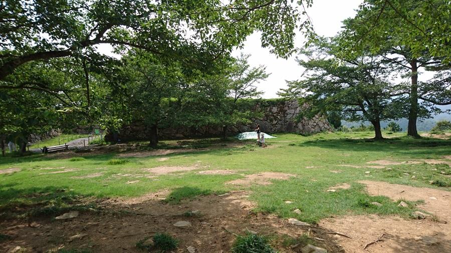 竹田城跡・城跡の広場