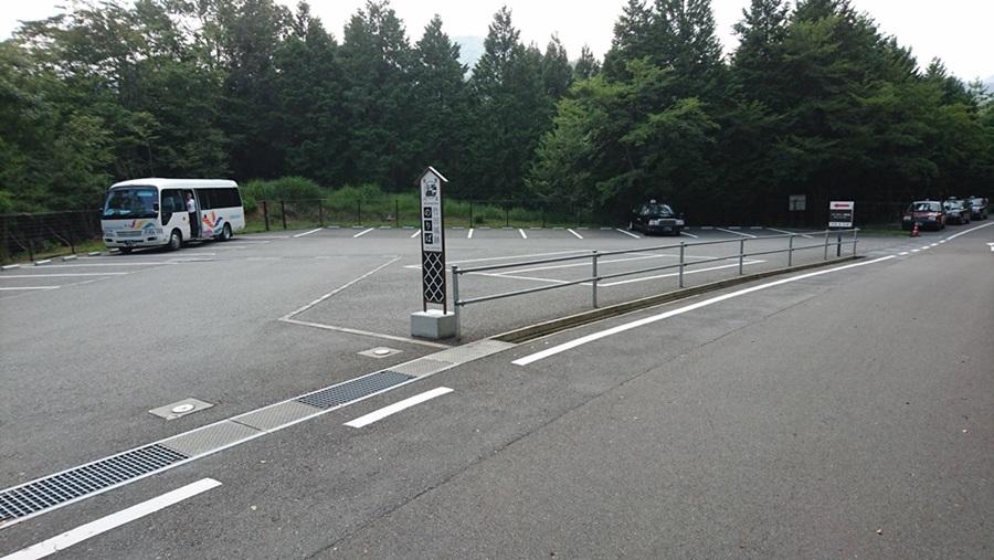 竹田城跡・登頂途中のタクシー降り場