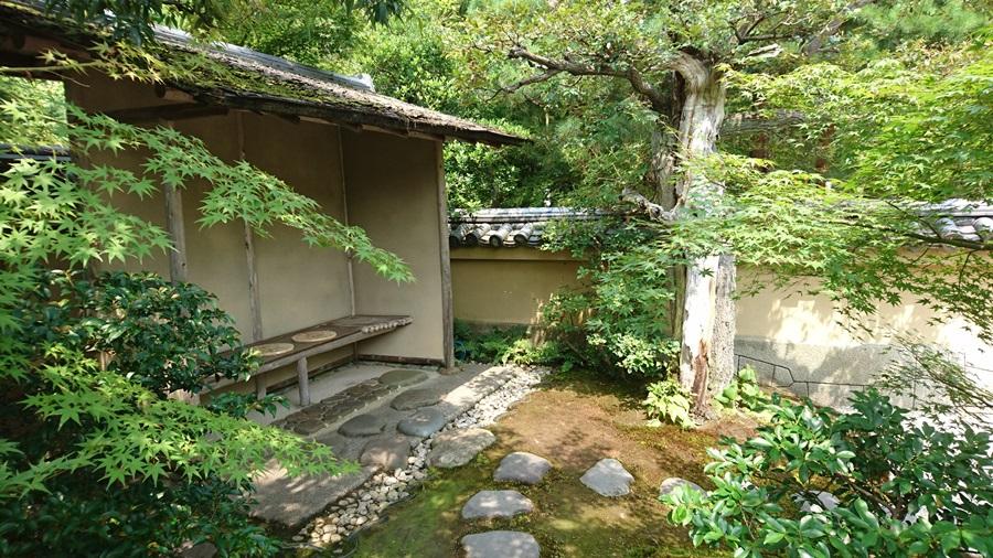 足立美術館・茶室寿立庵内の中庭