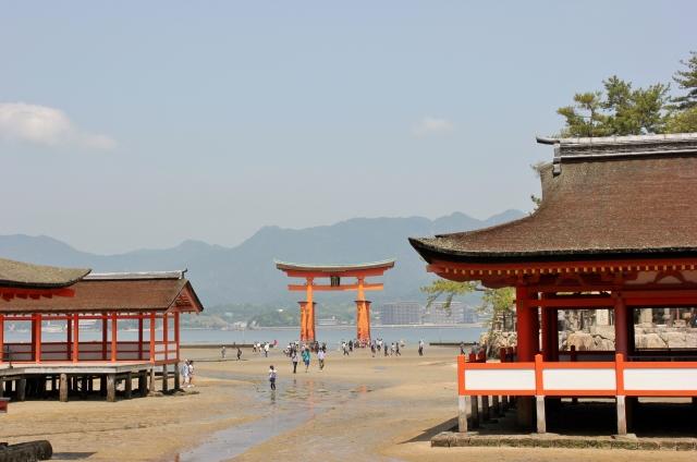 kaiun-厳島神社の干潮時