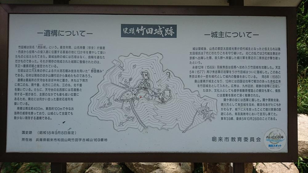 竹田城跡・史蹟案内板