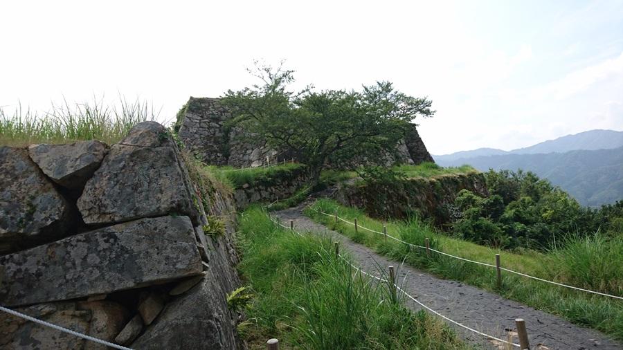 竹田城跡・城跡の最上はそこ