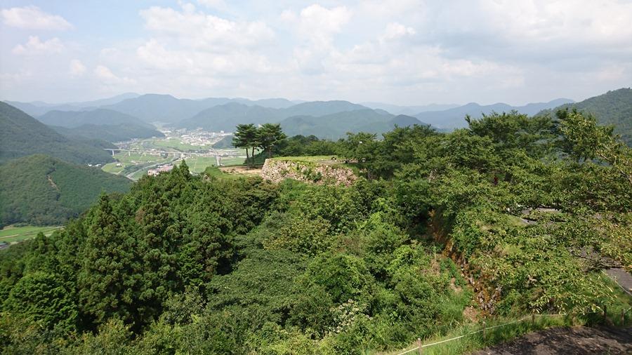 竹田城跡・弐の丸から見た北千畳