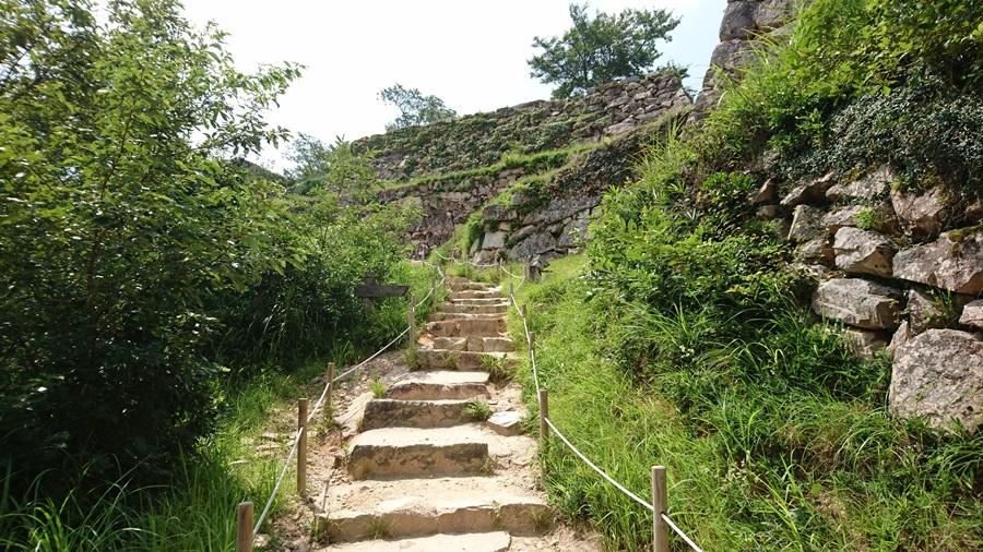 竹田城跡・頂上までもうすぐ