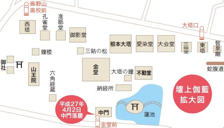 高野山・壇上伽藍エリア拡大マップ